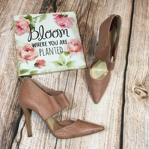 Jessica Simpson Blush Pink Snakeskin Heels